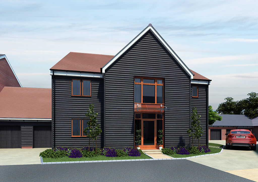 New build house 3d CGI for planning
