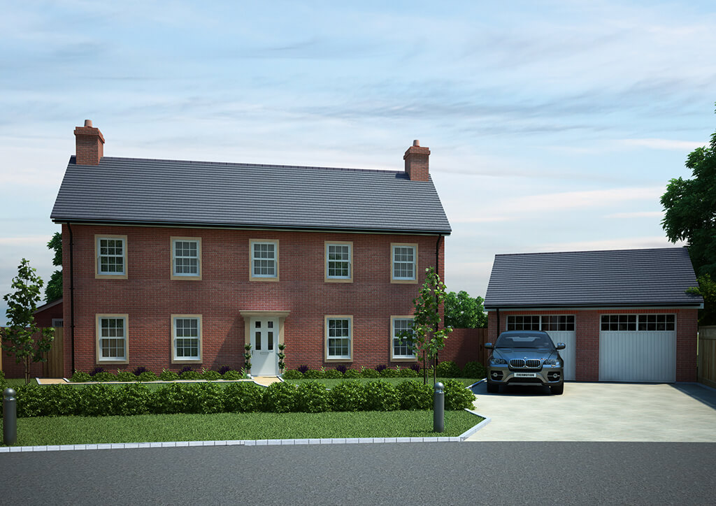 New build house 3d render for planning